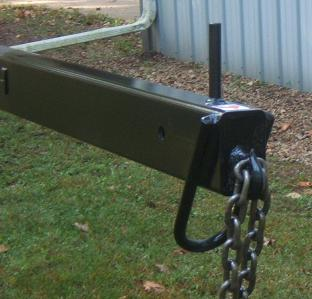 Close up of Front of Jib Boom